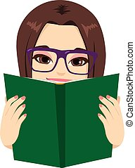 lány olvas, könyv
