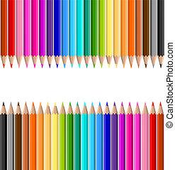 lápices, coloreado