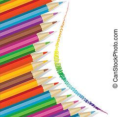 lápices, plano de fondo