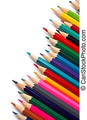 lápices, surtido, coloreado