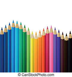 lápices, vector, coloreado