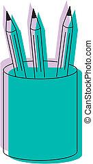 lápices, vector