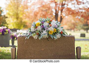 Lápida, colorido,  boquet
