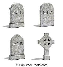lápida, conjunto