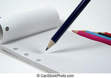 lápis, almofada