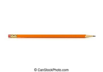 lápis, branca, isolado