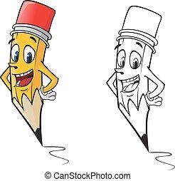 lápis, caricatura