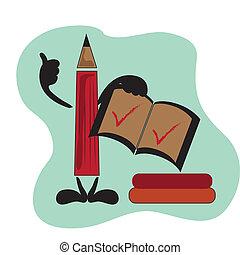 lápis, cheque
