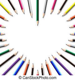 lápis cor, quadro