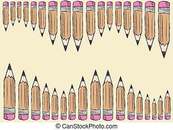 lápis, corredor