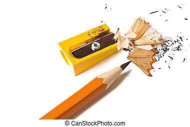 lápis, e, afie