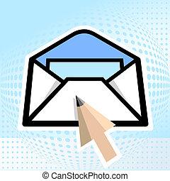 lápis, e-mail