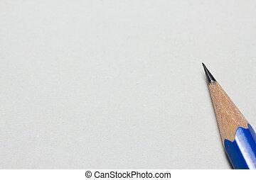 lápis, ligado, papel, com, espaço cópia