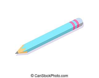 lápis, oferta escritório, algum, baixo, escreva, informação