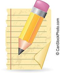 lápis, papel