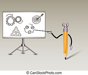 lápis, professor