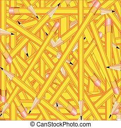lápis, quadrado, fundo