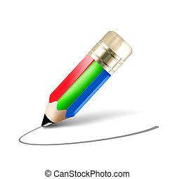 lápis, rgb