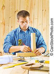 LÁPIS, trabalhos, carpinteiro