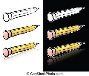 lápiz, bosquejo