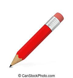 lápiz, con, borrador