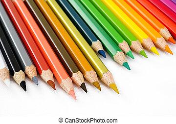 lápiz del color, blanco