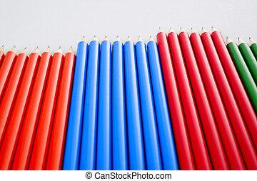 lápiz del color, multi