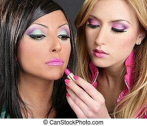 lápiz labial, moda, niñas, barbie, muñeca, maquillaje, retro, 1980s