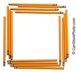 lápiz, marco