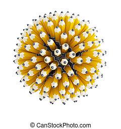 lápiz, multitud