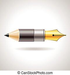 lápiz, pluma, icono