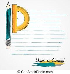 lápiz, transportador