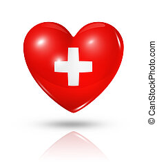 láska, švýcarsko, nitro, prapor, ikona
