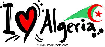 láska, alžírsko