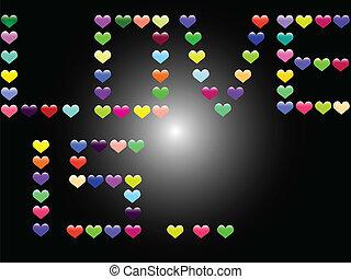 láska, grafické pozadí