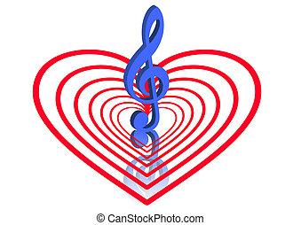 láska, hudba