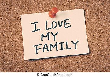 láska, můj, rodina