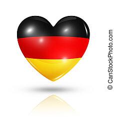 láska, německo, nitro, prapor, ikona