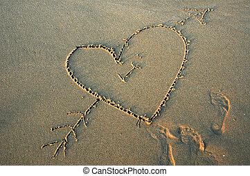 láska, pláž