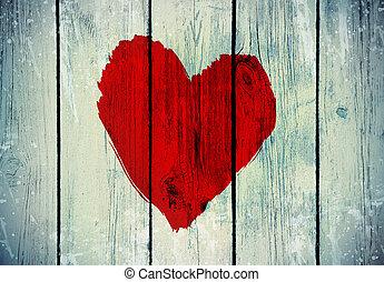 láska, znak, dále, dávný, hloupý hradba