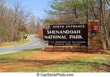 láthatár, nemzeti park, autózás, shenandoah