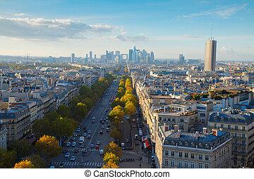 láthatár, párizs, franciaország