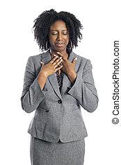 látszó, üzletasszony, black női