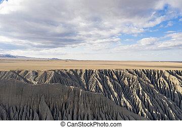 látványos, nagy kanyon, táj
