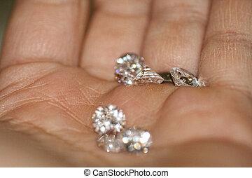 lâche, diamants