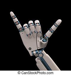 lâche, pendre, robot