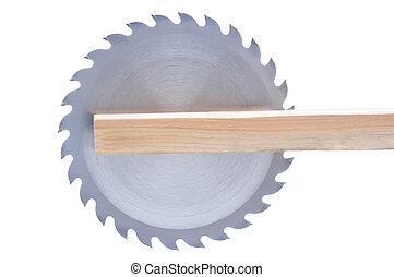 lâmina, serra, tábua, circular