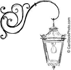 lâmpada, estilo velho