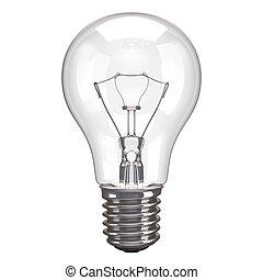 lâmpada, fundo branco