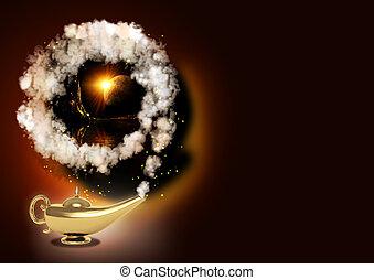 lâmpada, magia